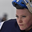 PLYMOUTH, MICHIGAN - MARCH 31: Noora Raty #41 looks on during warm up prior to Team Finland's game against Team Russia during preliminary round action at the 2017 IIHF Ice Hockey Women's World Championship. (Photo by Minas Panagiotakis/HHOF-IIHF Images)