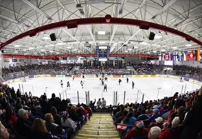 PLYMOUTH, MICHIGAN - APRIL 6: USA Hockey Arena prior to the gold medal game between USA and Canada at the 2017 IIHF Ice Hockey Women's World Championship. (Photo by Minas Panagiotakis/HHOF-IIHF Images)